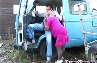 Fat Granny In Pink Fucking Outdoors.  xxx porn