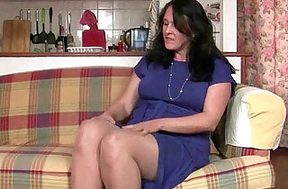 British granny works her pantyhosed old pussy.  xxx porn