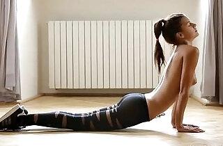 Pantyhose Yoga.  xxx porn