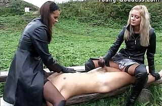 Outdoor Leather Humiliation.  xxx porn