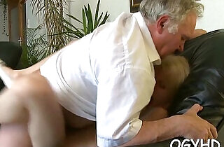 Juvenile babe licks and rides old rod.  so young  ,  young-old   xxx porn