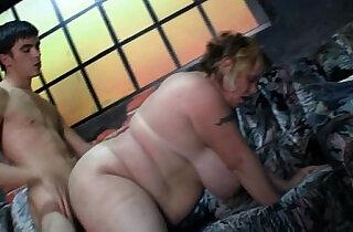 BBW takes it hard from behind.  xxx porn