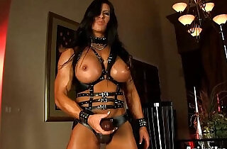 Aziani Iron Angela Salvagno in leather with a strap.  xxx porn