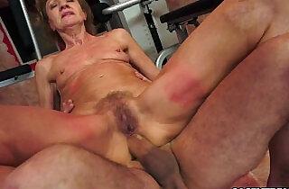 Grandma rides on a huge cock..  xxx porn