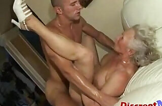 Banging the granny pussy.  xxx porn
