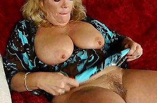 Office granny in pantyhose gives her old pussy a treat.  xxx porn