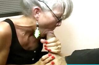 Mature with spex sucking cock.  xxx porn