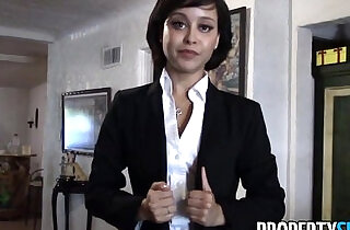PropertySex Cute real estate agent makes dirty POV sex video with client.  rope sex   xxx porn