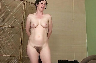 Hairy mom gets herself before a date.  xxx porn