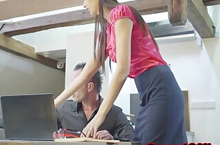 Skinny czech secretary shagging her boss.  xxx porn