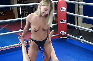 Nikky Thorne vs. Peter nude erotic mixed wrestling humiliation strapon.  xxx porn