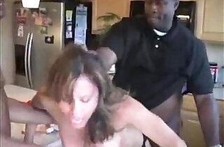 Wende wife forced by blacks in kitchen.  xxx porn