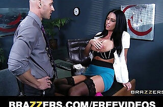 Freckle faced secretary proves she will do ANYTHING for a raise.  xxx porn