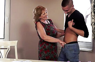 European grandma fucks and cumplays.  xxx porn
