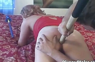 Slutty chick takes it in her ass.  xxx porn