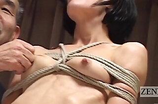 CMNF Subtitled Japanese nose BDSM with Elise Graves.  xxx porn