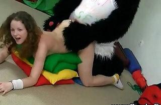 Toy panda and teen facial.  xxx porn