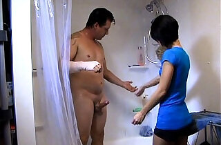 Helping Daddy Shower.  xxx porn