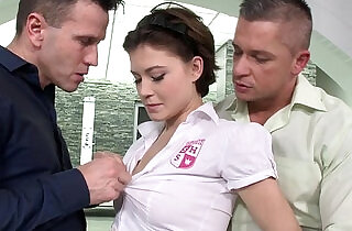 Schoolgirl Veronica Morre double penetration.  xxx porn