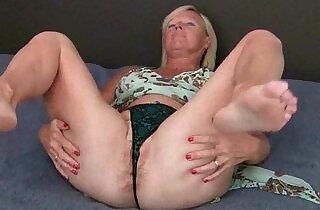 British granny loves a dildo up her ass.  xxx porn