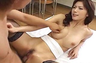 Hot Japanese babe Riko Tachibana fucked by a student.  xxx porn