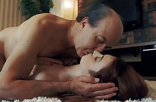 Innocent sweet blonde amateur Teen Swallows and Spits cum after Romantic Sex with Grandpa.  xxx porn