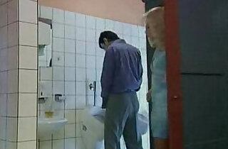 German mature gets fucked in public toilet.  xxx porn