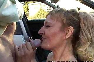 Public Deepthroat Milf Does Guys in Car Park Amateur Reality.  xxx porn