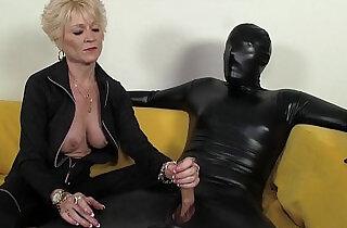 Dominant Granny Dominates Her Slave.  xxx porn
