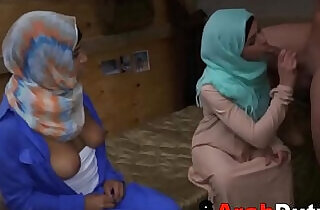 Arab Girls In Hijabs Treated To Western Soldier Cock.  xxx porn