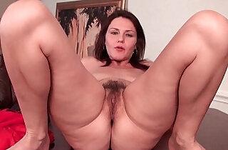 Sexy horny milf with tits works her hairy pussy.  xxx porn