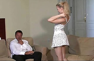 He finds his girlfriend with old man.  xxx porn
