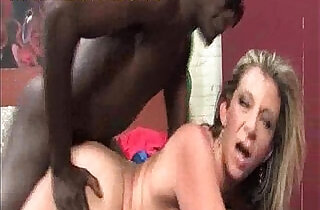 Big titted blonde fucked by black.  xxx porn