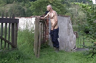 Oldman pleases sons gf outdoors.  young-old   xxx porn