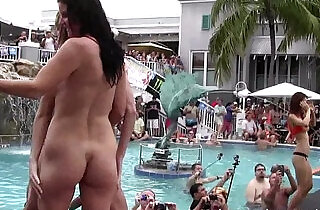 girls pussy and getting totally naked at wild pool party.  xxx porn