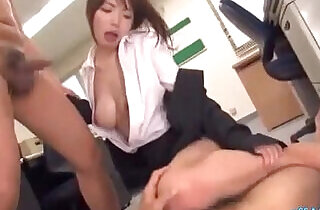 Office Lady In Pantyhose Fingered By Guys Sucking Cocks Giving Footjob O.  officeporn  ,  pantyhose  ,  sucking   xxx porn