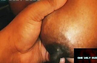HUGE BLACK plays WITH NIPPLES.  tits   xxx porn
