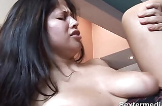 shaved puss: Slim Bitch with butt with very tight shaved pussy puts in fat prick