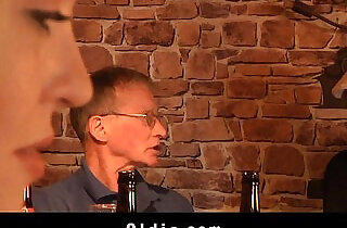 English oldman fucks cute american blonde in a pub.  old-young  ,  so young  ,  young-old   xxx porn