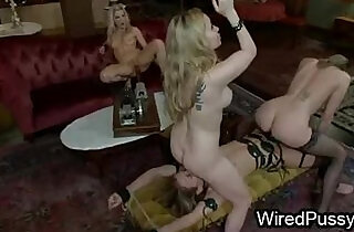 Wired maid in foursome femdom action hard flogged and fucked.  xxx porn