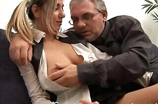 Father seduced his beauty busty daugther and fucked his daughter.  xxx porn