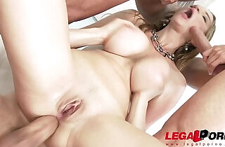 Busty babe Suzie Sun oiled up assfucked by studs.  xxx porn
