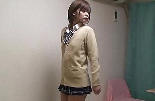 Japanese Schoolgirl Hikaru Undressing.  xxx porn