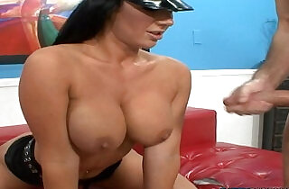 Stunning busty poilice babe rimmed and jizzed.  xxx porn