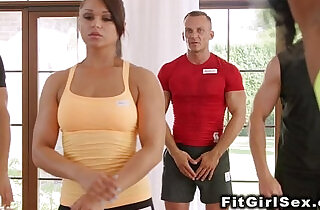 Interracial action of fitness babes.  xxx porn