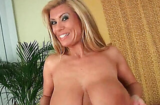 Gilf with big boobs strips off and gets her ass fucked.  xxx porn