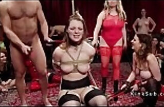 Hot slaves rough fucked at party.  gagged  ,  hardcore sex  ,  orgies  ,  party  ,  slaves   xxx porn