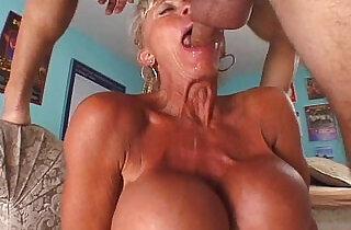 Grandma with fake tits.  xxx porn