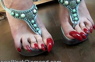 Penelope Black Diamond Footlick Footjob and Blowjob Milk Preview.  xxx porn