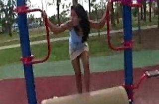 Asian Teen Playground Fun.  booty sluts  ,  brunette  ,  fetishes  ,  flashing  ,  outdoor   xxx porn
